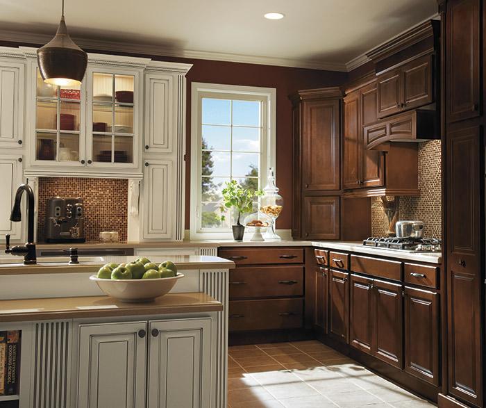 Homecrest Kitchens on Dark Maple Cabinets  id=14641