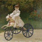 """Obra """" Jean Monet em uma cavalo mecânico""""- 1872"""