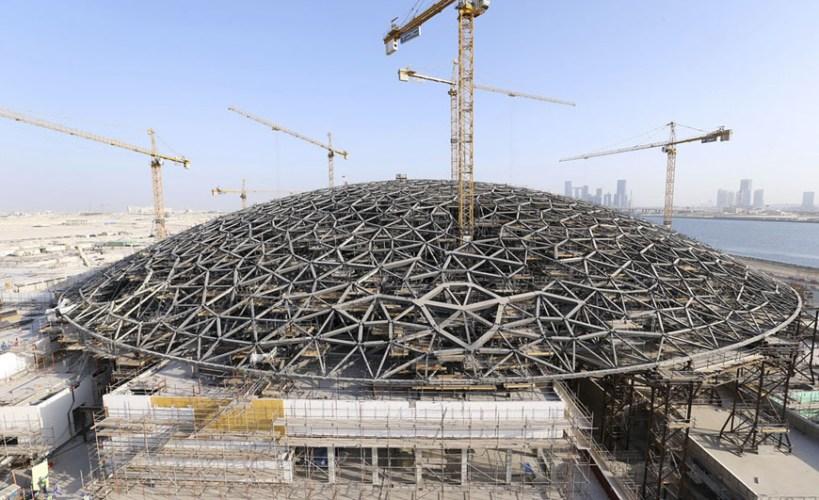 Construção Louvre Abu Dhabi - Jean Nouvel - Imagem Grupo San Jose SA