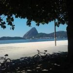 Vitsa deslumbrante do Parque do Flamengo para a Baía de Guanabara e o Pão de Açúcar