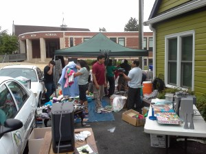 Parent Committee Yard Sale May 18 outside Maid to Clean
