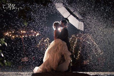 chuva casamento efeito luz 2