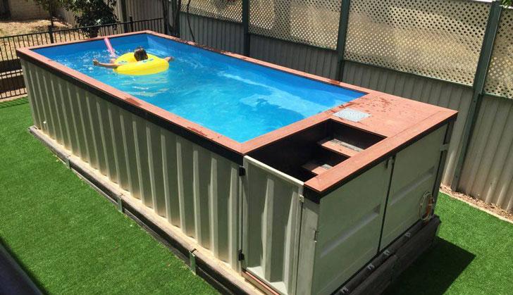 piscina din container pentru casa container