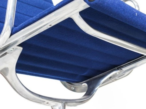 Vitra Eames EA108 blue hopsak aluminium group chair 7a