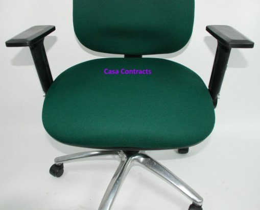 ESE chair Green fabric base and back 12a