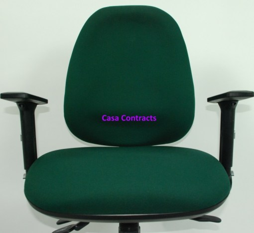 ESE chair Green fabric base and back 14a