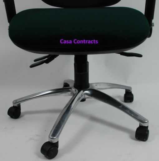 ESE chair Green fabric base and back 15a