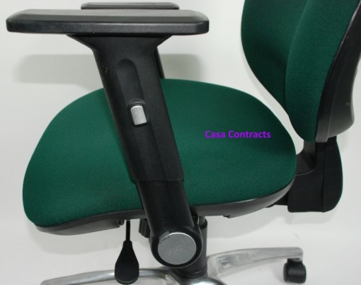 ESE chair Green fabric base and back 17a