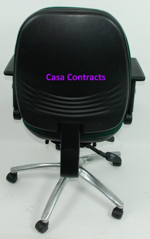ESE chair Green fabric base and back 5a