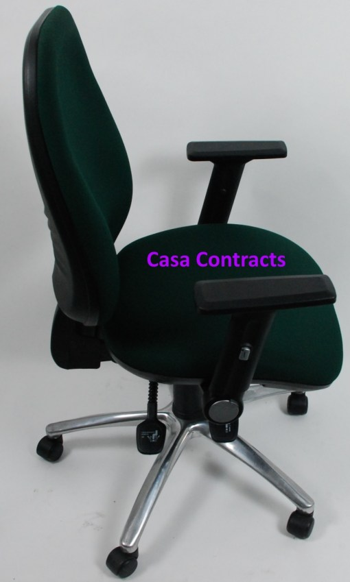 ESE chair Green fabric base and back 7a