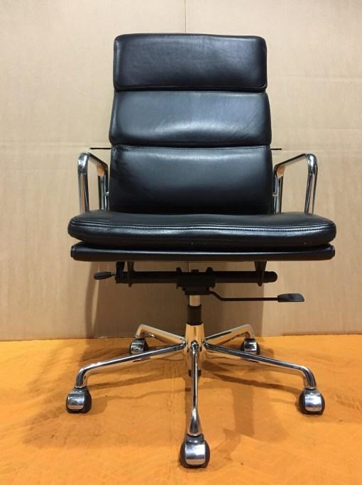 ICF Eames EA219 Black leather high back 1
