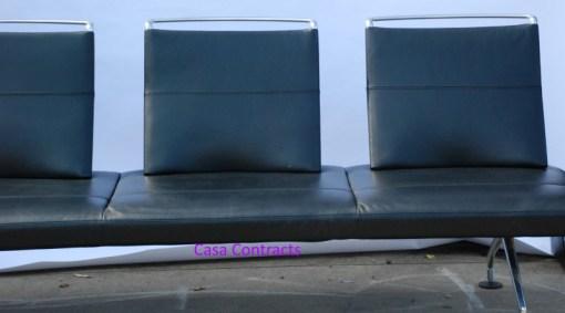 Vitra Area sofa 3 seater black leather 3