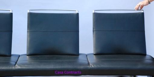 Vitra Area sofa 3 seater black leather 5