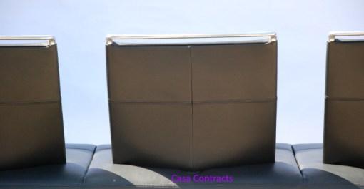 Vitra Area sofa 3 seater black leather 8
