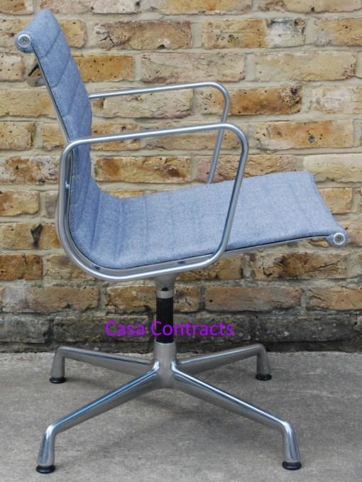 Vitra Eames EA108 Ice Blue Hopsak Aluminium Group Chair 5