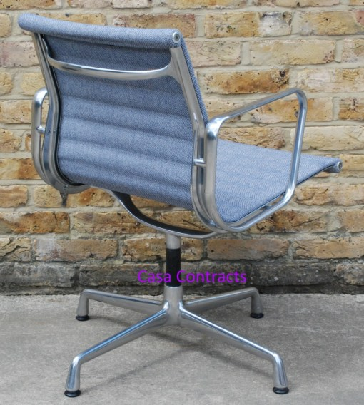 Vitra Eames EA108 Ice Blue Hopsak Aluminium Group Chair 6