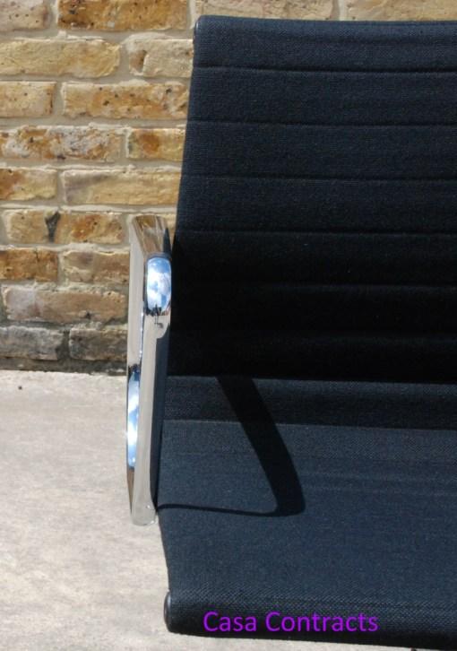 Vitra Eames EA108 Black Hopsak Aluminium Group Chair 8