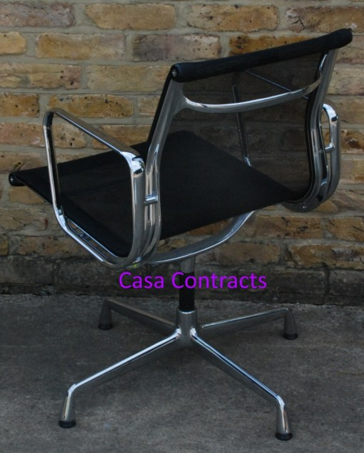 Vitra Eames EA108 Aluminium Chair Black Mesh 5