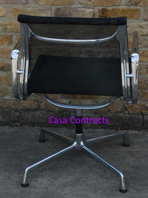 Vitra Eames EA108 Aluminium Chair Black Mesh 6
