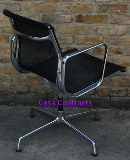 Vitra Eames EA108 Aluminium Chair Black Mesh 7