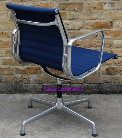 Vitra Eames EA108 Blue Hopsak Aluminium Group Chair 3