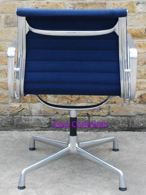 Vitra Eames EA108 Blue Hopsak Aluminium Group Chair 4