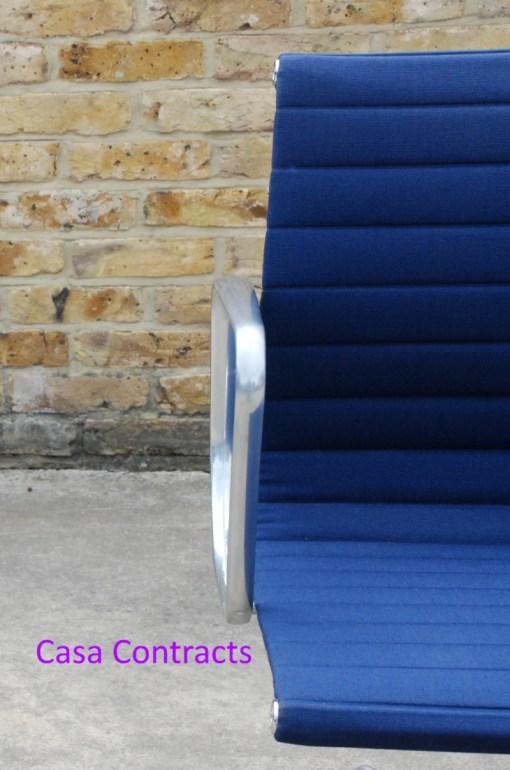 Vitra Eames EA108 Blue Hopsak Aluminium Group Chair 7