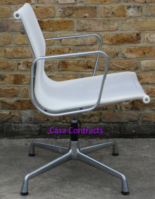 Vitra Eames EA108 White Mesh Aluminium Group Chair 2