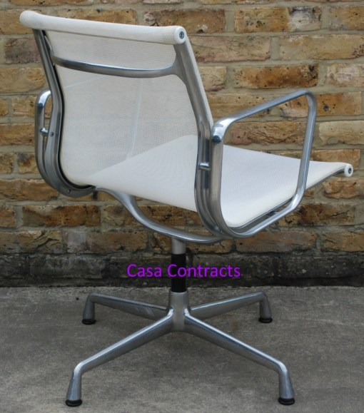 Vitra Eames EA108 White Mesh Aluminium Group Chair 3