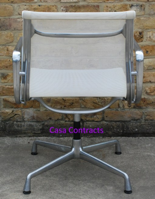 Vitra Eames EA108 White Mesh Aluminium Group Chair 4