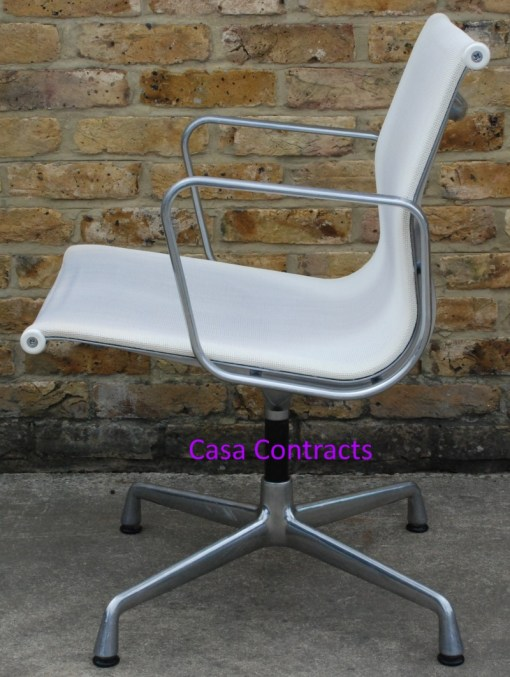Vitra Eames EA108 White Mesh Aluminium Group Chair 5
