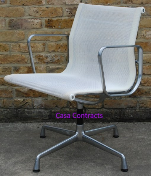 Vitra Eames EA108 White Mesh Aluminium Group Chair 6
