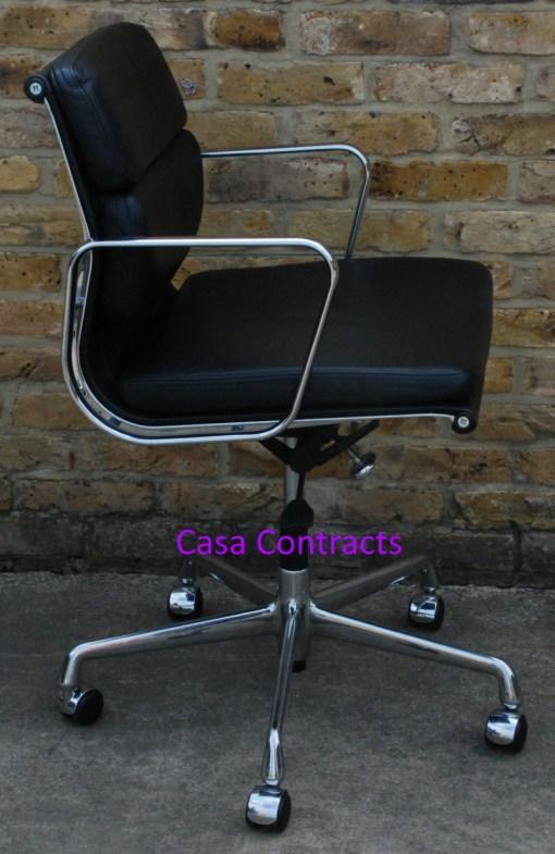 Vitra Eames EA217 Soft Pad Black Leather 7