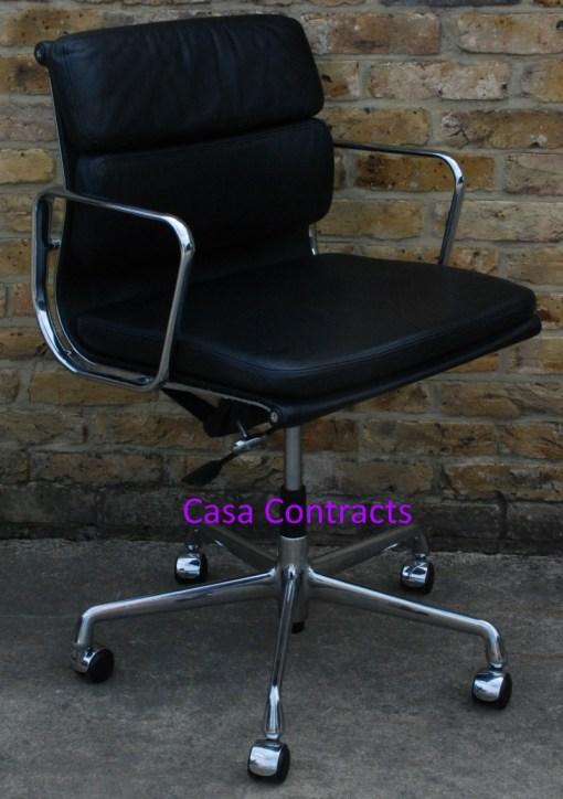 Vitra Eames EA217 Soft Pad Black Leather 8