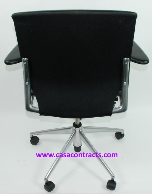 Vitra Meda chair leather adjustable arms 4a
