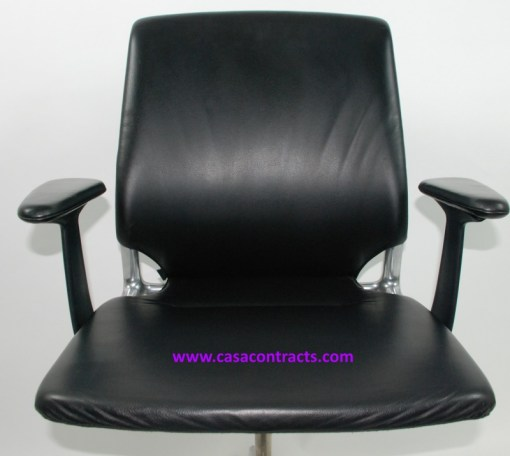 Vitra Meda chair leather adjustable arms 7a