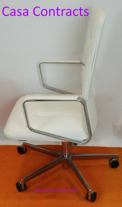 Walter Knoll white leather executive LEAD chair 11a