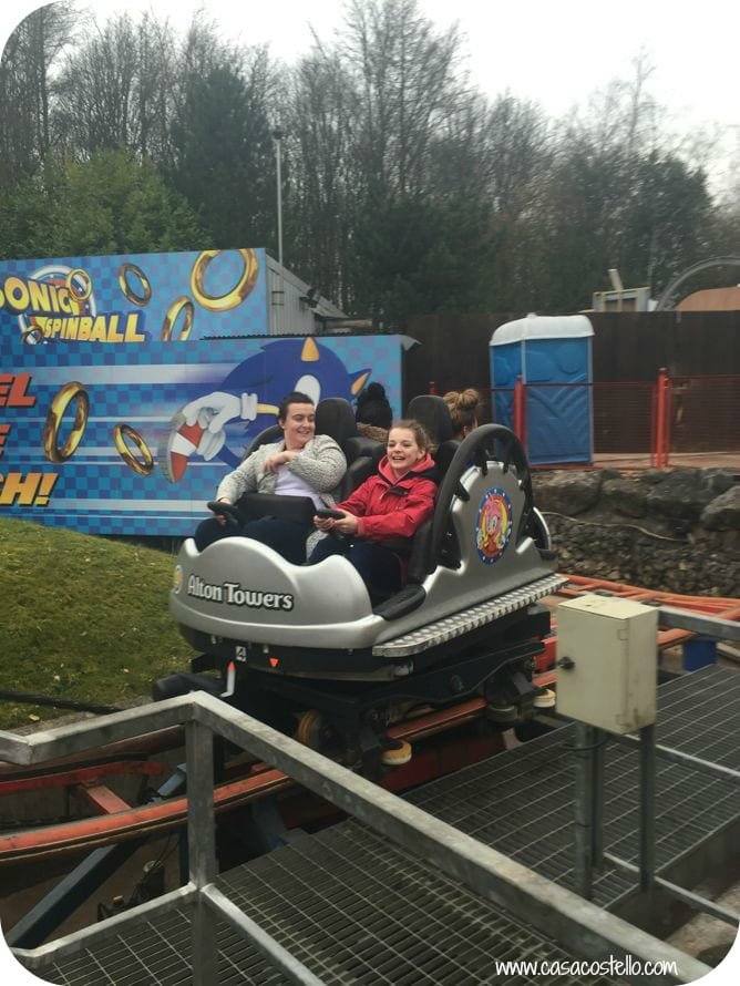 alton towers sonic spinball