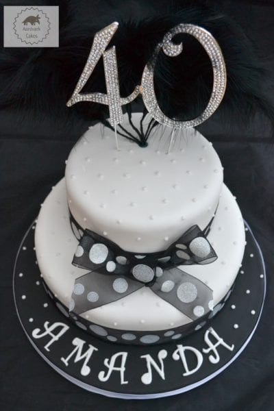 40th Birthday Bling Cake Bakeoftheweek Casa Costello