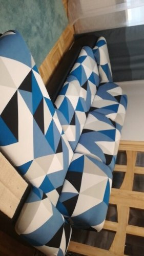 Geometric Sofa Cover Set photo review