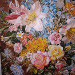 Oil Painting Art Of Flowers Canvas photo review