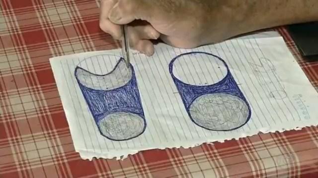 Projeto foi desenhado e idealizado pelo aposentado em Floreal — Foto: Reprodução/TV TEM