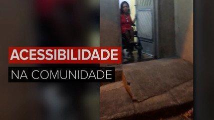 Cadeirante que mora em comunidade do RJ conta como lida com falta de acessibilidade