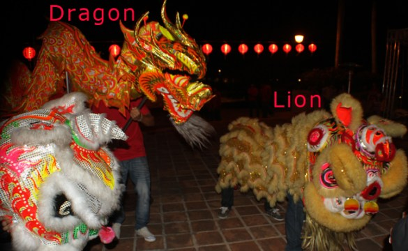 chinese dragon chinese lion