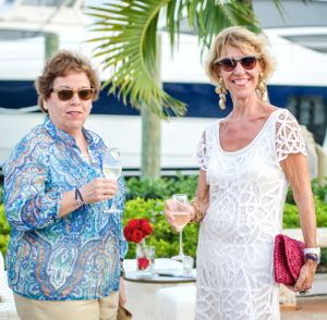 Guests enjoy champagne at the launch of Chris Chraft yachts in the Marina Casa de Campo