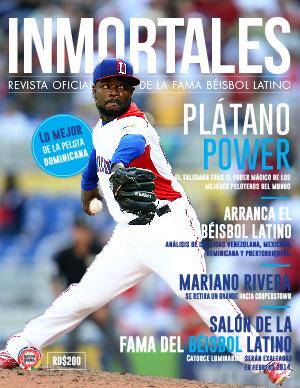 INMORTALES latino baseball magazine cover