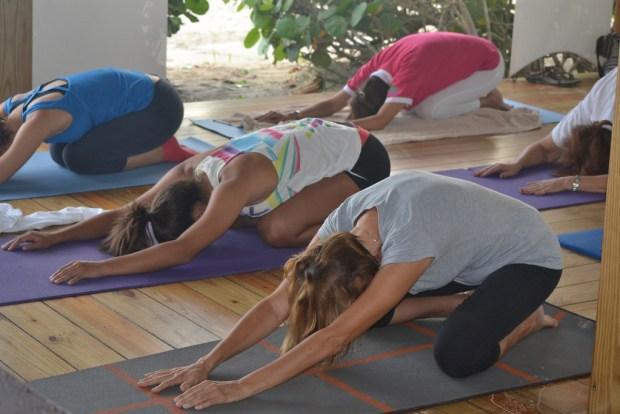Casa de Campo beach yoga