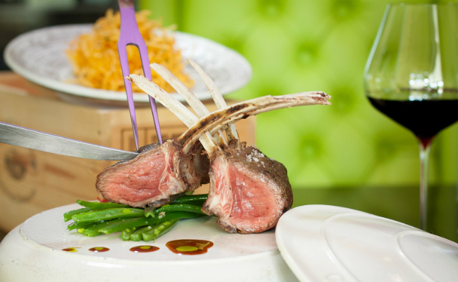Tender rack of Lamb