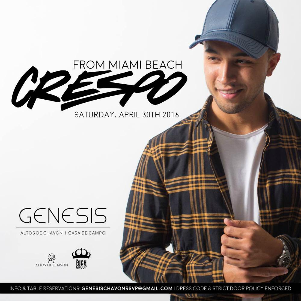 DJ Crespo at genesis Nightclub April 30