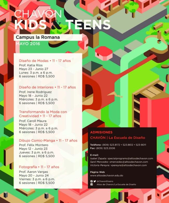 Cursos Niños y Adolescentes Escuela de Diseño de Altos de Chavón